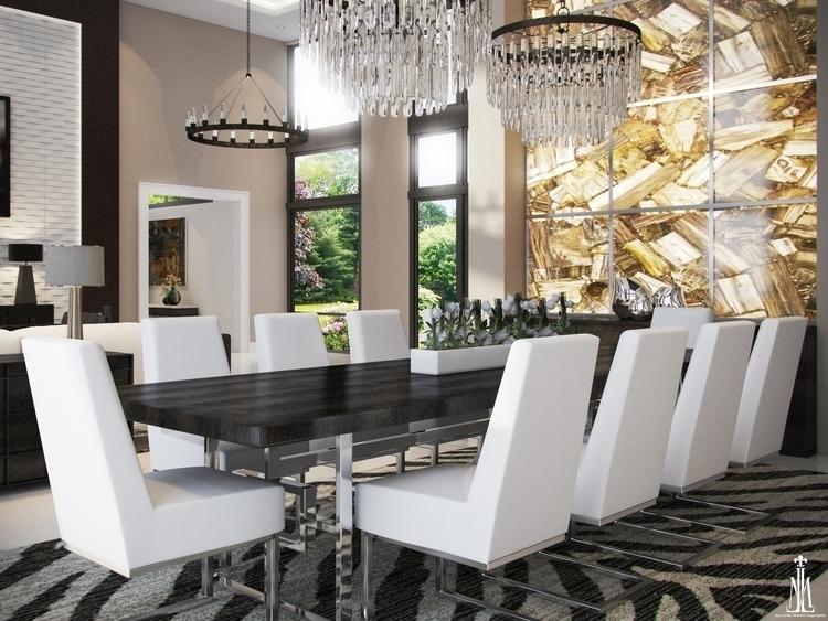 Dining room design - rendering, 3dsmax - arqmarenco | ello