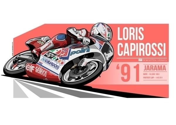 Loris Capirossi - 1991 Jarama - illustration - evandeciren   ello