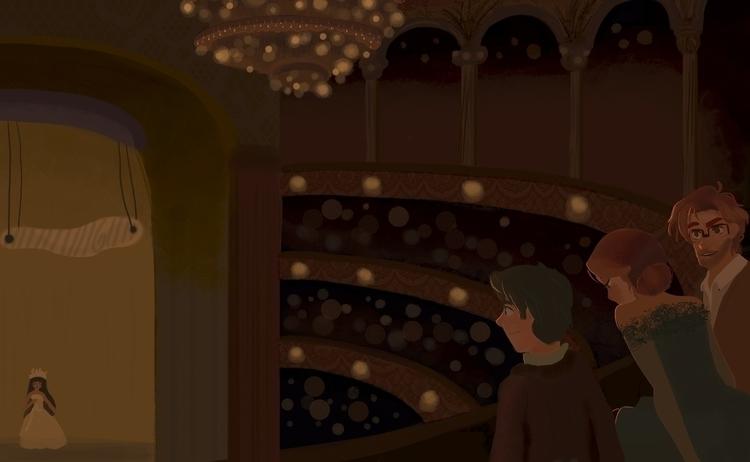 Théâtre - illustration, conceptart - marah-2748 | ello