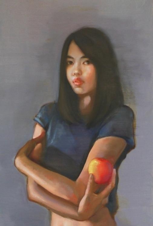 Forbidden fruit Oil canvas - painting - pitchanan | ello