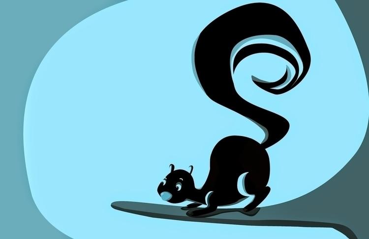 squirrel, characterdesign, conceptart - roxanneeee   ello