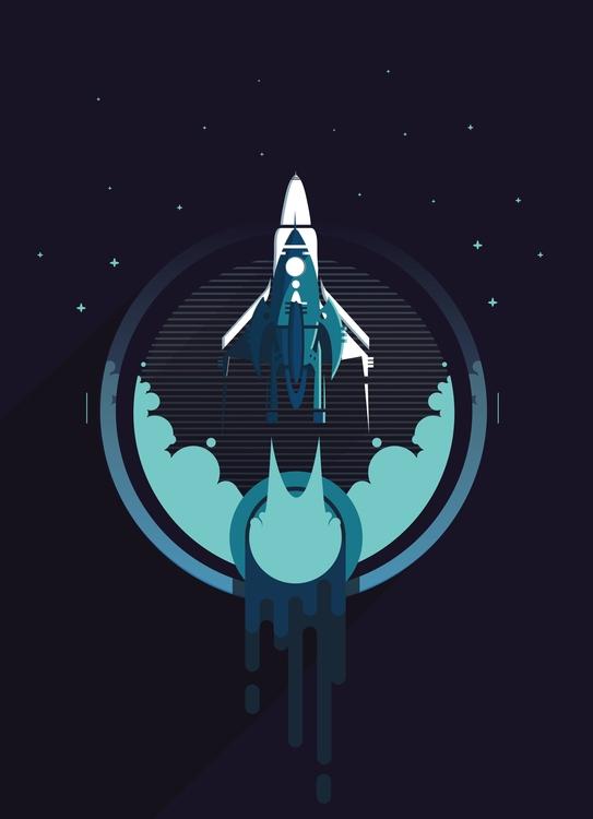 rocket, stars, start, flat, vector - lidiagh   ello