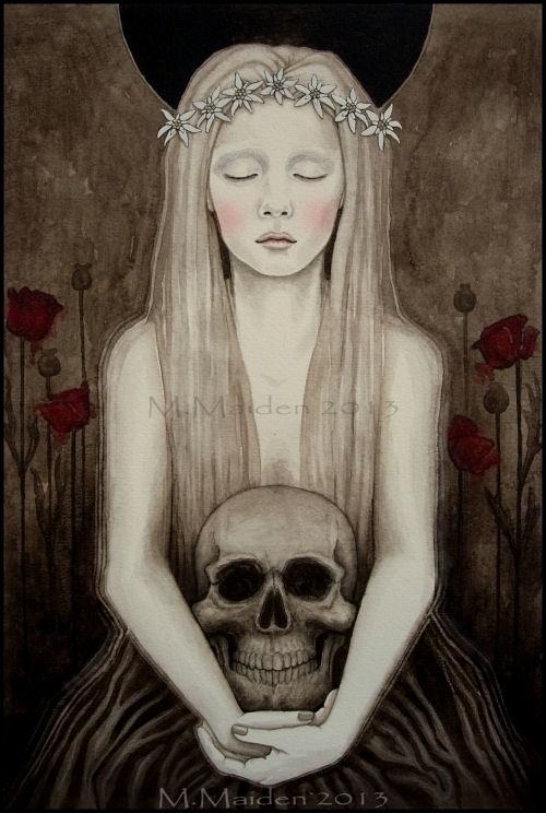 Edelweiss, A3 watercolour - dark - mmaiden | ello