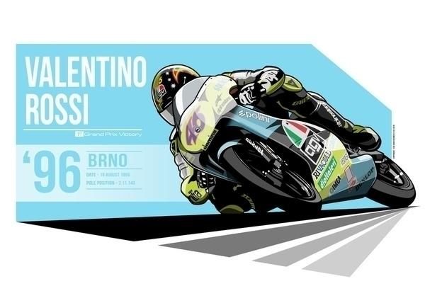 Valentino Rossi - 1996 Brno - illustration - evandeciren | ello