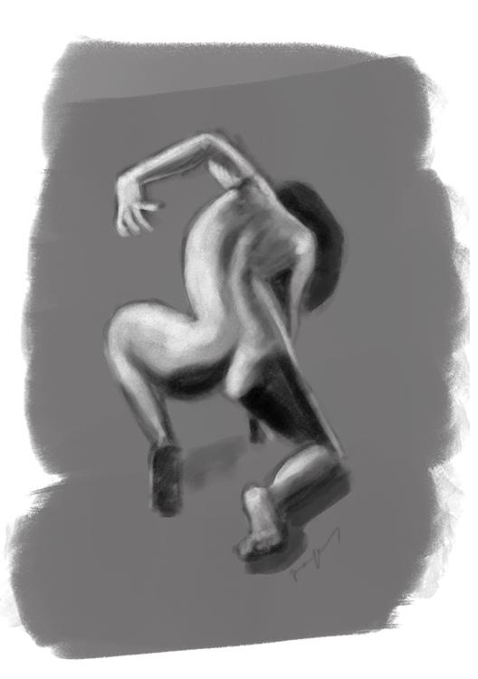 lifedrawing, toning, painting - roxanneeee | ello
