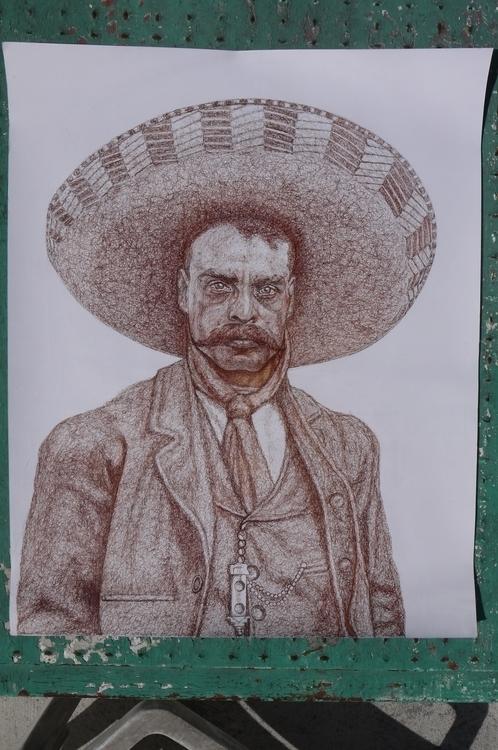Zapata - zapata, portrait, pen, drawing - el_compy | ello