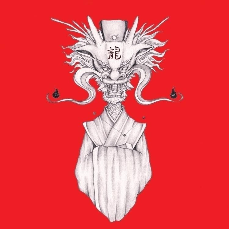 Dragon - illustration, conceptart - hardilim | ello
