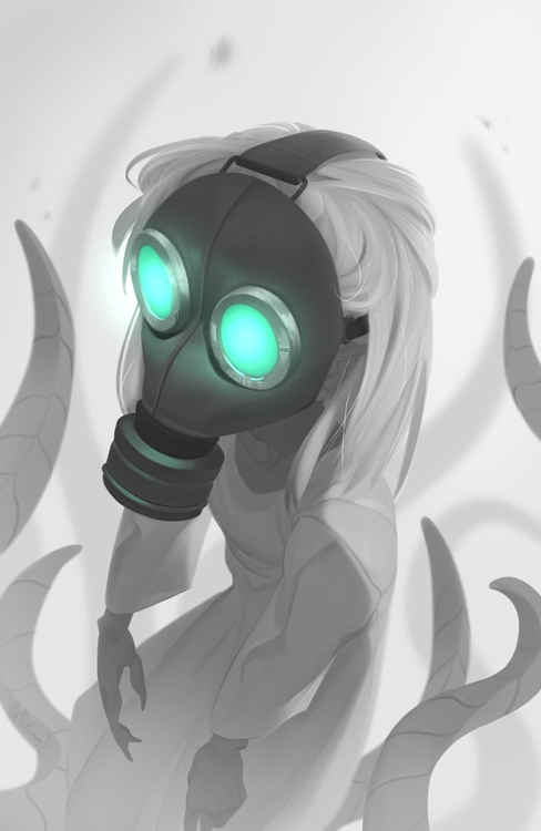 Unnumbered - tentacles, gasmask - meammy | ello