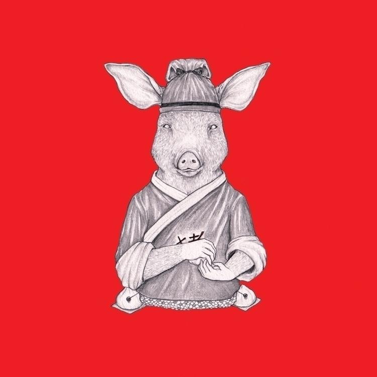 Pig - illustration, characterdesign - hardilim | ello