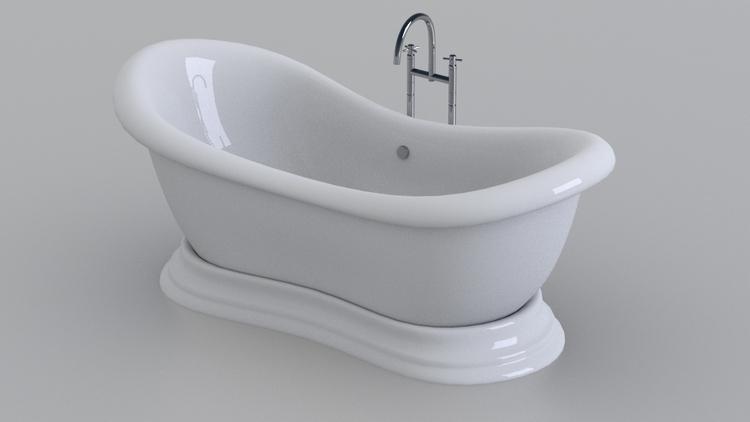bathtub - 3d, render, blender, realistic - 3dbrianrincon | ello