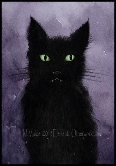 Meg, 2015, A4 watercolour - cat - mmaiden | ello