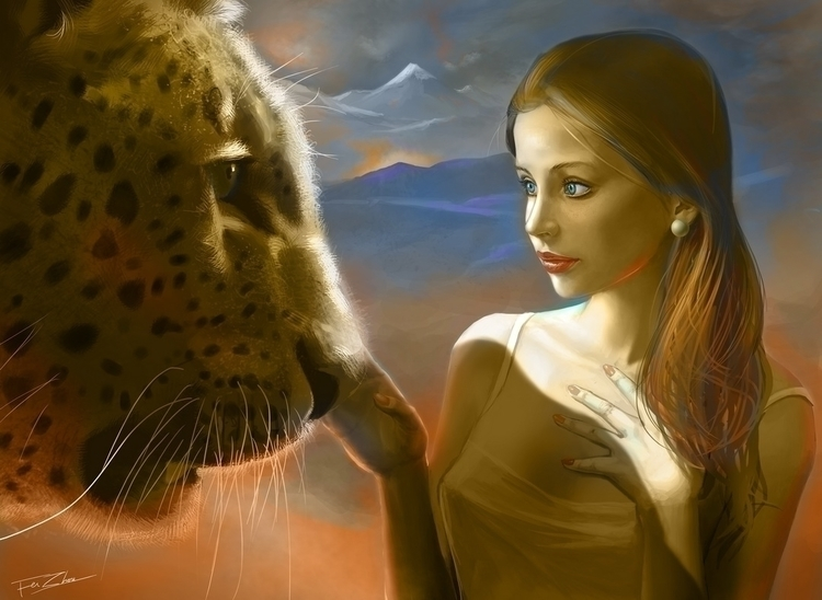 Contact - fantasyart, lion, animal - faye-1205 | ello