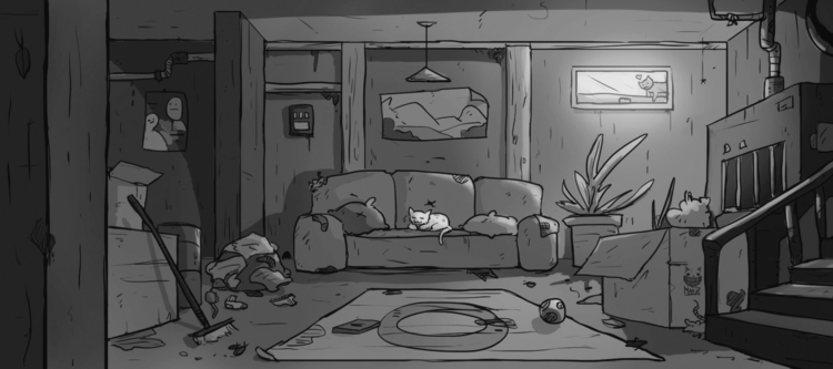 basement - illustration, conceptart - maodraws | ello