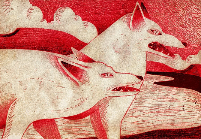 lilidesbellons, wolf, illustration - bellons | ello