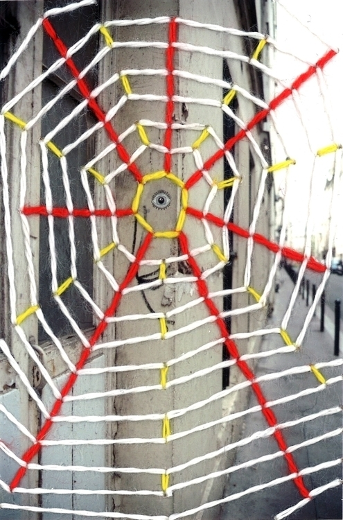 Spiderweb - embroidery, photography - akumimpi   ello