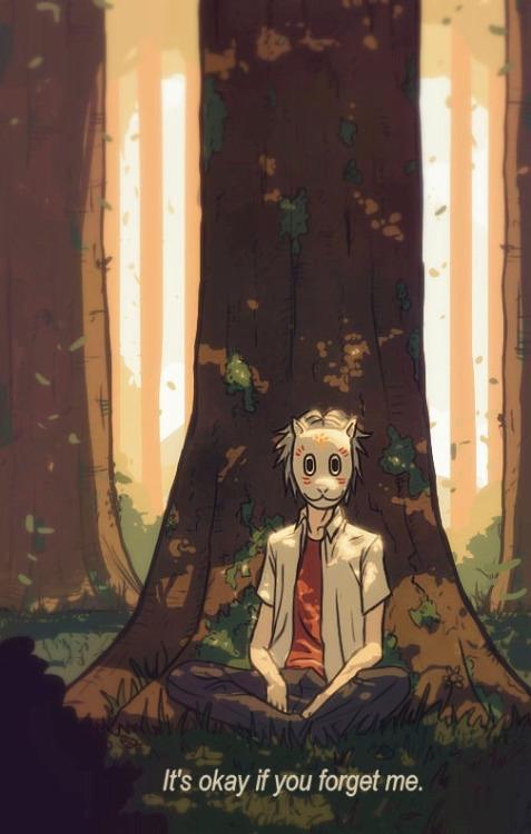 Forest fireflies - illustration - maodraws | ello