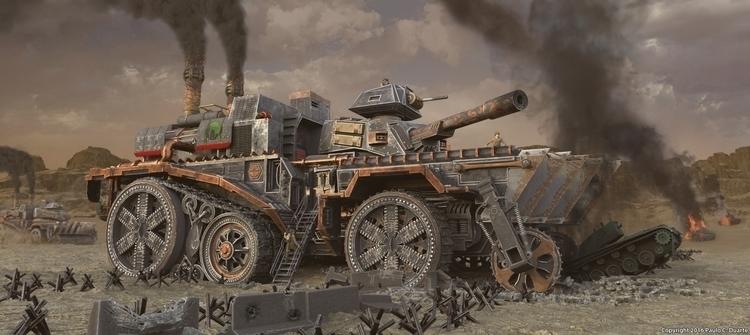 Steampunk Tank Fortress concept - pauloduarte-5938 | ello
