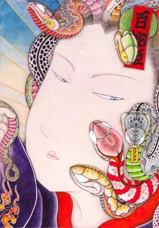 Dr.Medusa style - illustration, painting - kota_nakatsubo | ello