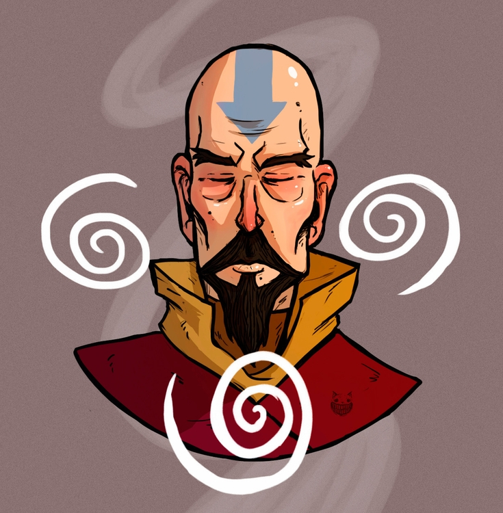 Tenzin - illustration, drawing - maodraws | ello