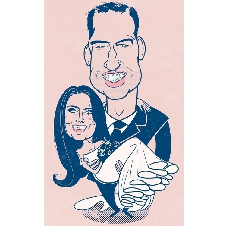Royal Wedding - PrinceWilliam, KateMiddleton - drawgood | ello