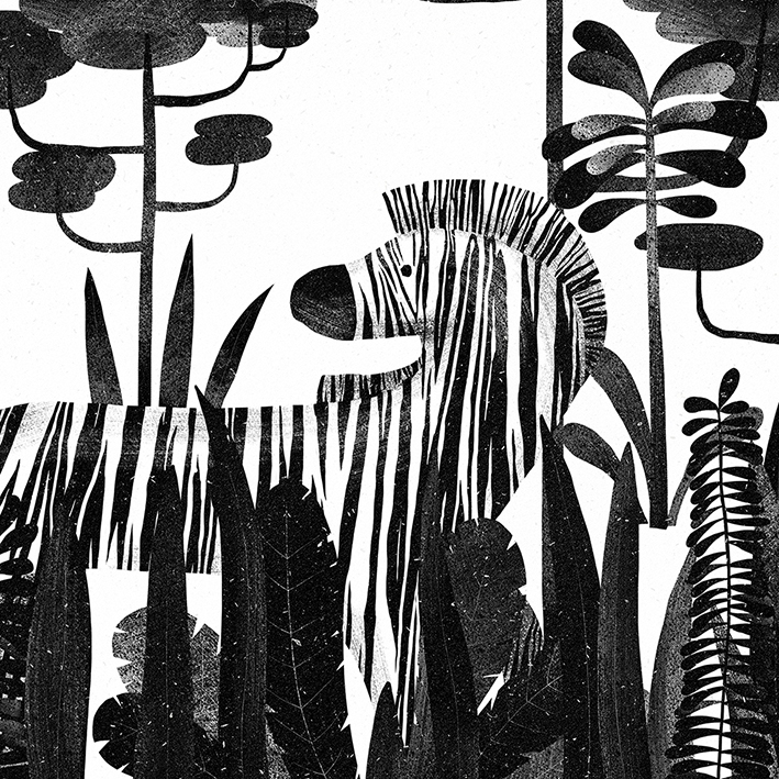 zebra, forest, tropical - wrapzly | ello