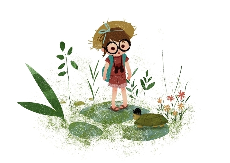 Tiny explorer - art, illustration - elizabetvukovic | ello