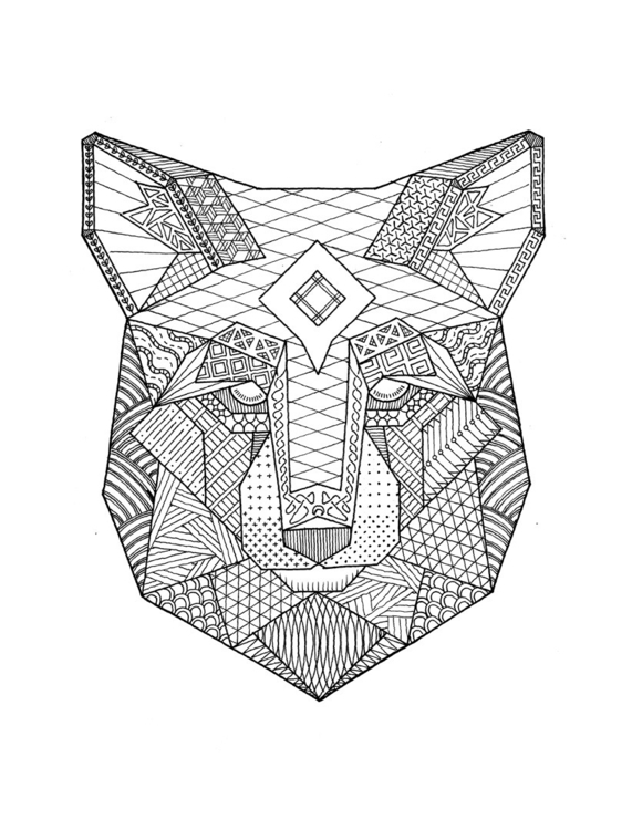 Geometric Wolf - illustration, drawing - giovannitagliaro | ello