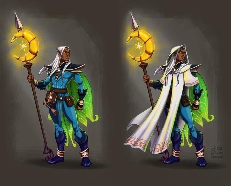 fairy wizard design commission - ginarivas | ello