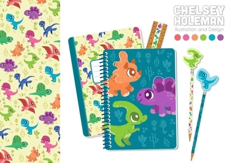 fun dino stationary set matchin - chelschmitz | ello