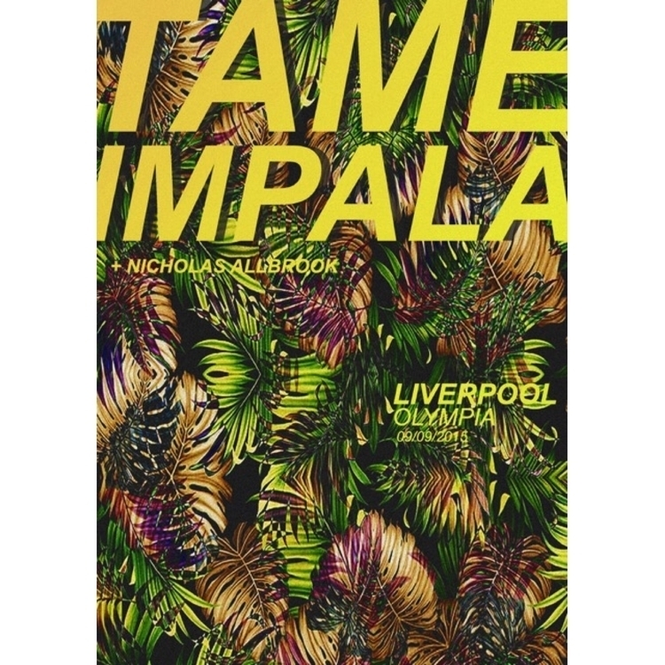 Poster Tame Impala Liverpool Ol - laurencejeph | ello