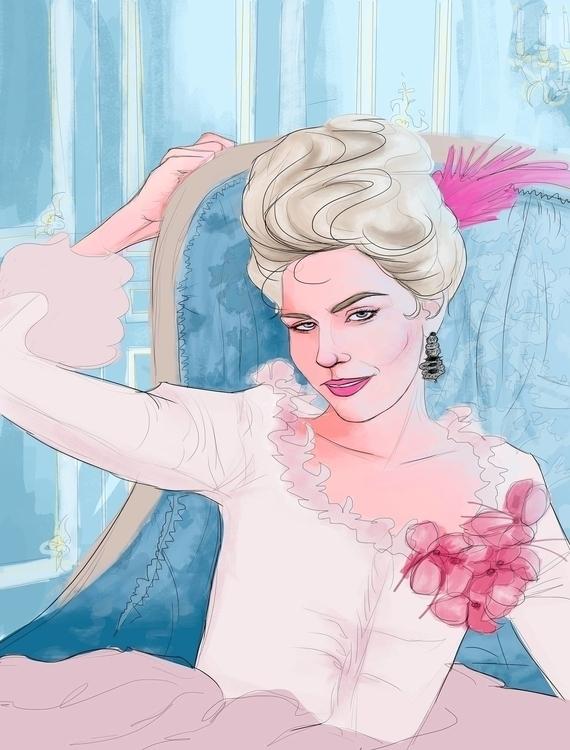 Marie Antoinette - illustration - lucianaquero | ello