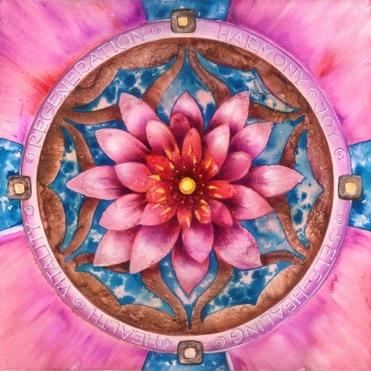 Mandala Health -original painti - annahannahart   ello