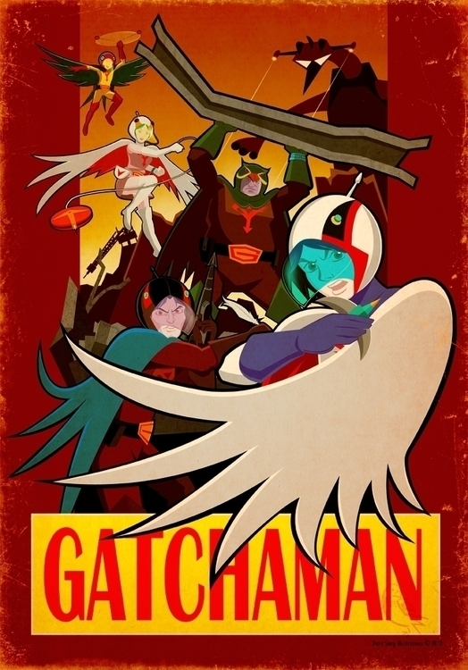 Gatchman - anime, Japanese, Eagleriders - davesongart | ello