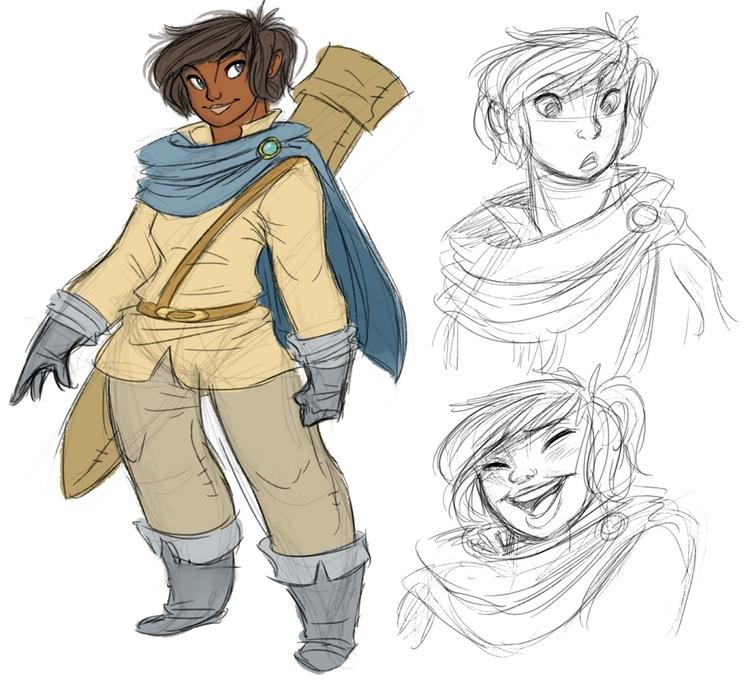 warrior, swordswoman, characterdesign - awamboldt | ello