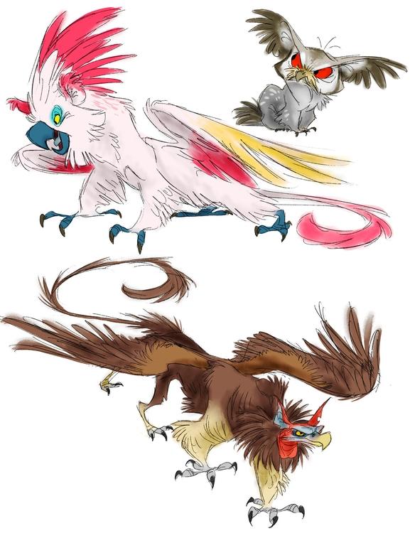 griffin, griffon, gryphon, creature - awamboldt | ello