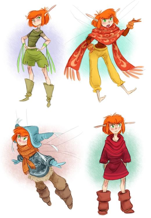 fairy, pixie, costumedesign, characterdesign - awamboldt | ello