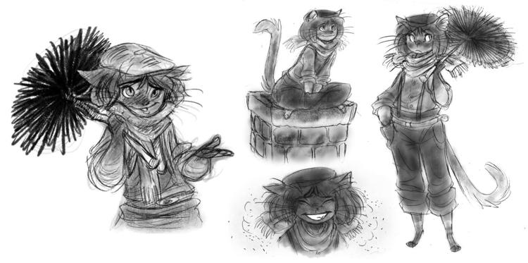 cat, catgirl, chimneysweep, characterdesign - awamboldt | ello