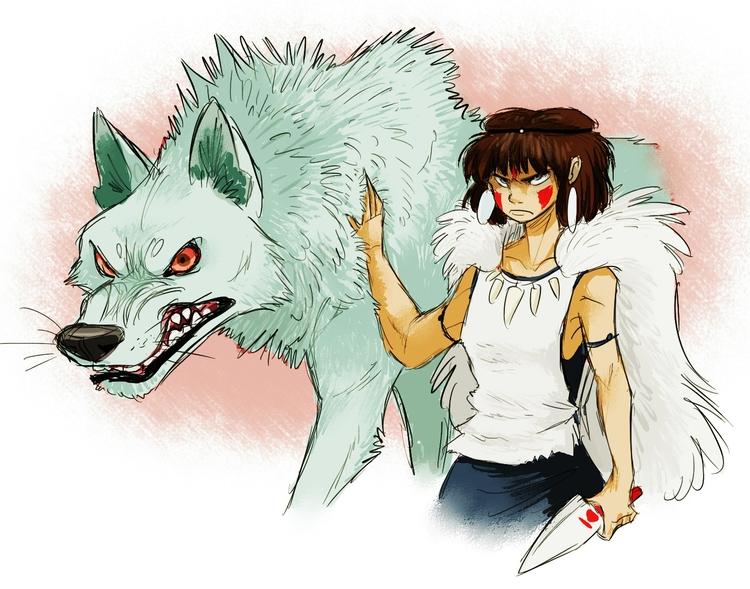 princessmononoke, hayaomiyazaki - awamboldt | ello