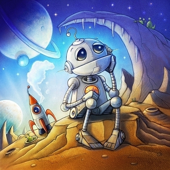 Spaced - #space#aliens#robot#cute#spaceship#children'sbook - craigcameron | ello