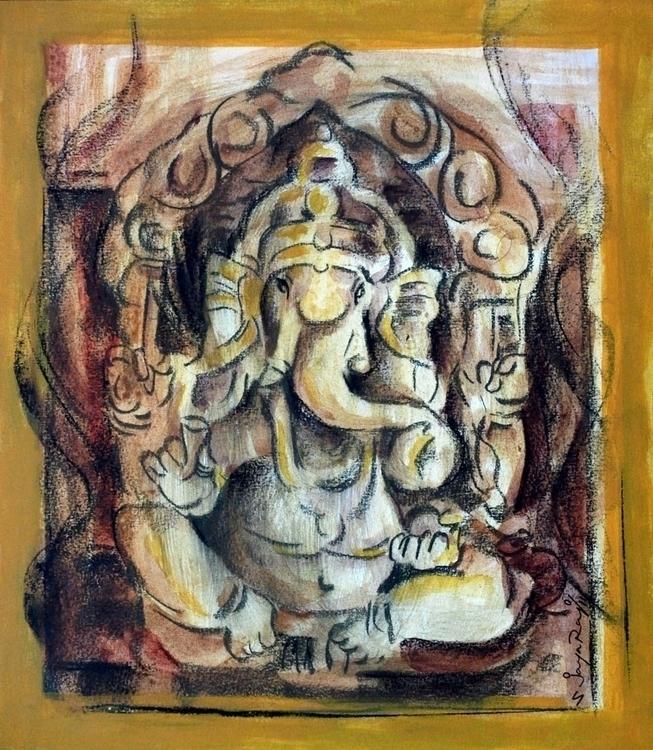 Ganesha - painting, charcoaldrawing - sjayaraj999 | ello