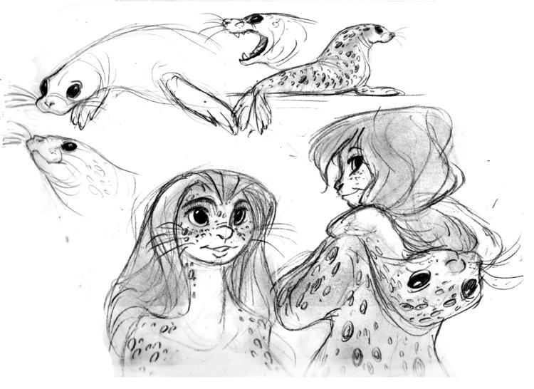 selkie, seal, characterdesign - awamboldt | ello