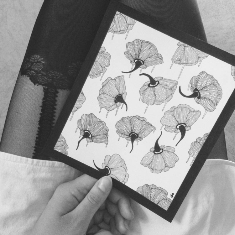 illustration, drawing, flowers - salutnoe   ello