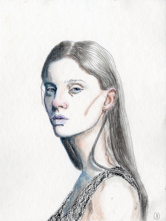 Pierce. Soft pastels ink waterc - narum | ello