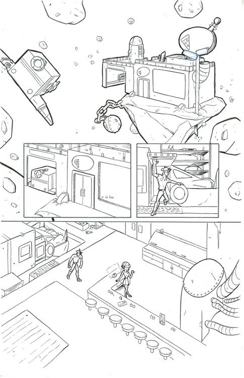 30 Parsecs page 6 - comics, comicbooks - kylebrightbill | ello