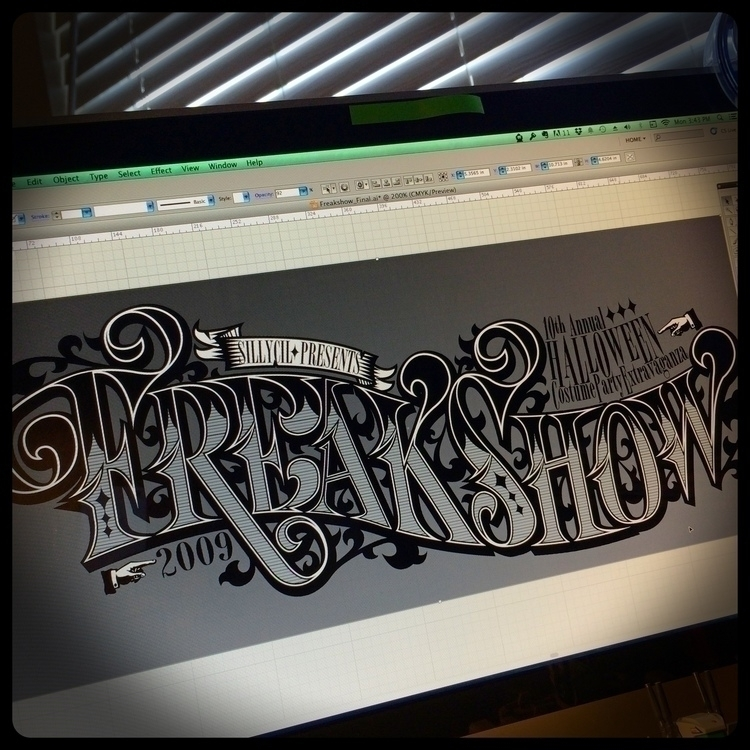 Freakshow - design, typography, lettering - iamosi | ello