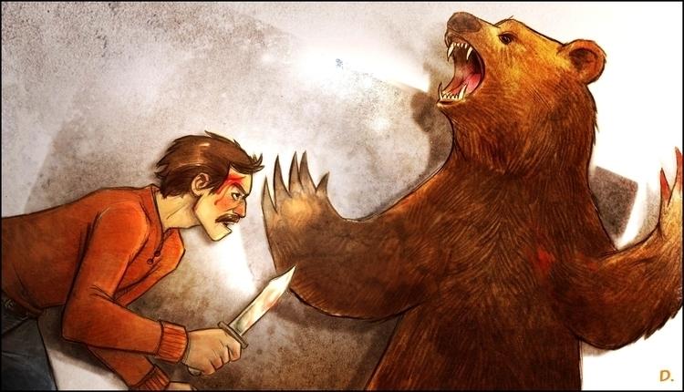 zabavnik - illustration, bear, vintageinspired - dedadarko | ello