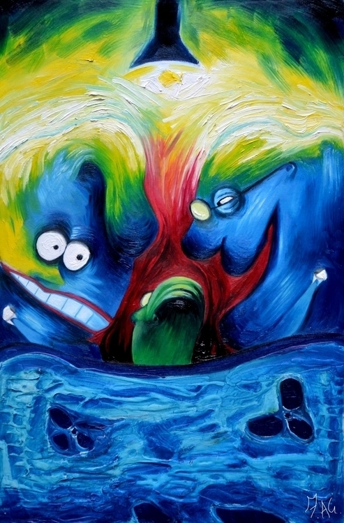 Goosebumps 5- Oil canvas panel - fagfedericaaglietti | ello