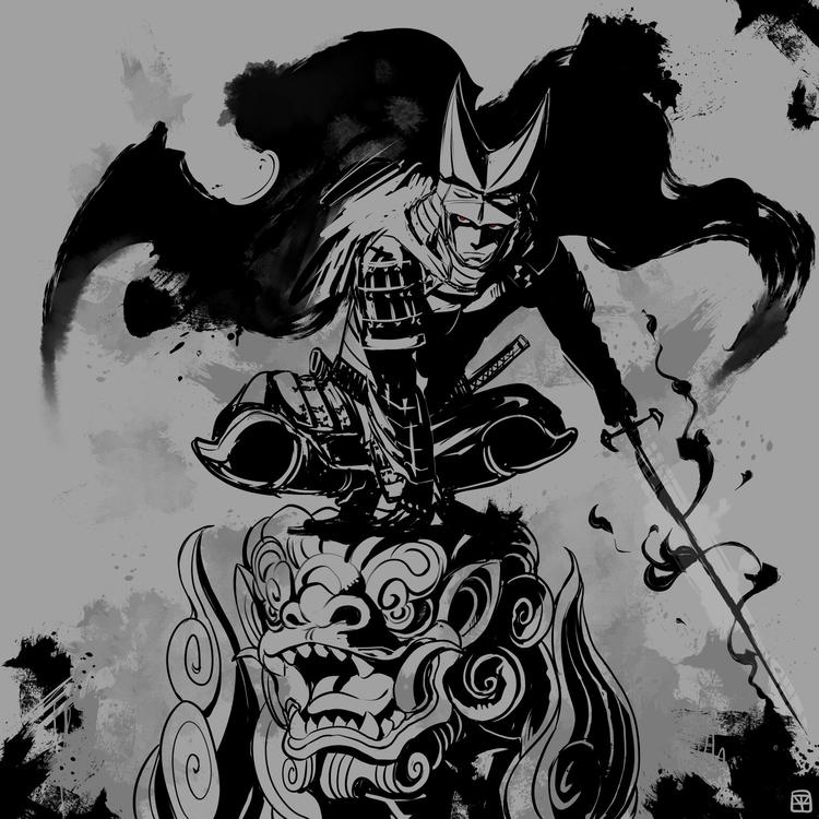 Ujisato Gamo - illustration, samurai - mizuno-3224 | ello