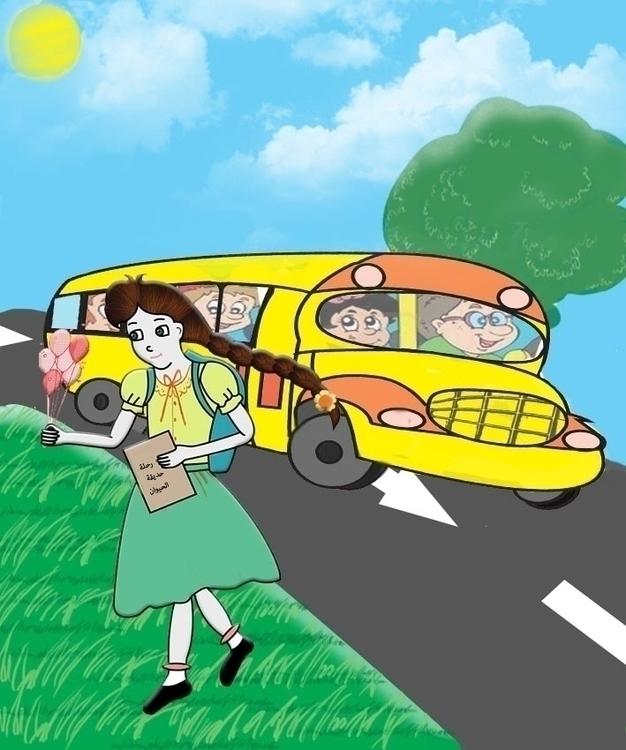 happy day - illustration, animation - hendabdelghaffar | ello