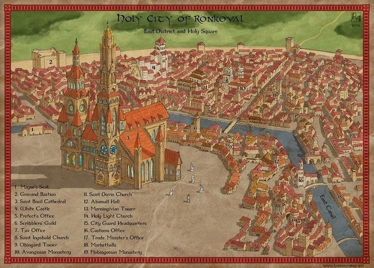 Holy City Ronkoval - illustration - robertaltbauer | ello